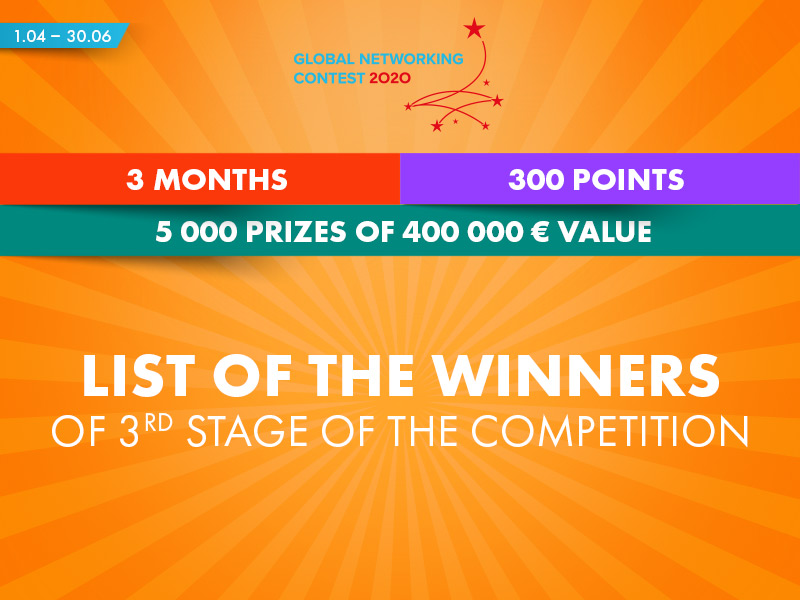 3rd stage of Global Networking Contest – list of the winners