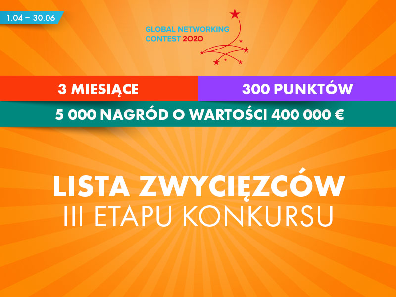 III etap Global Networking Contest – lista laureatów