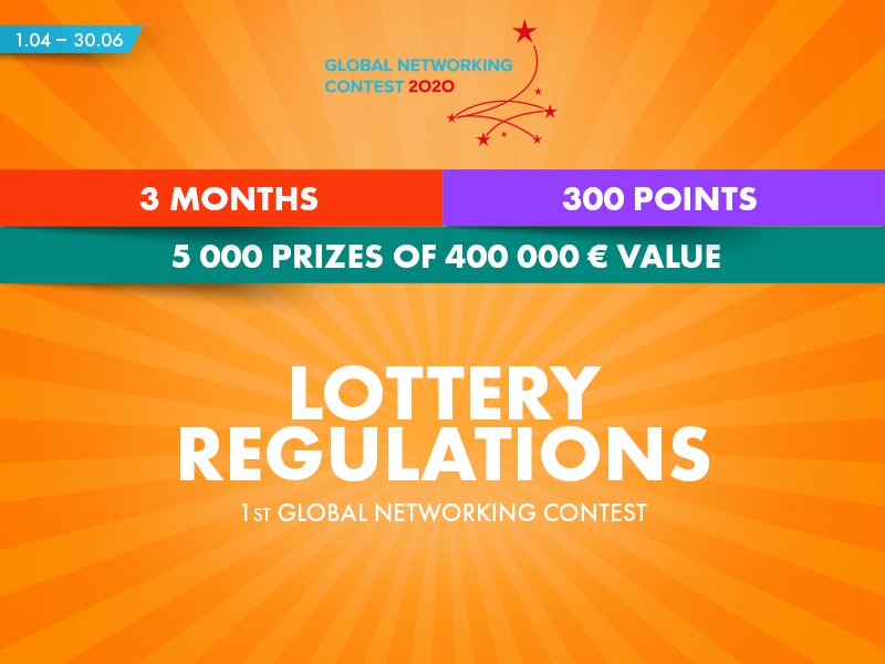1st Global Networking Contest Lottery Regulations